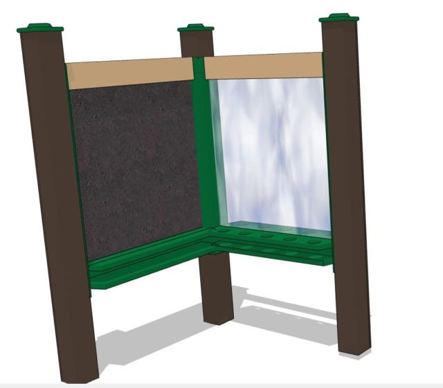 Paint Panel and Chalkboard Combo | Outdoor Play Equipment | Nature of Early Play