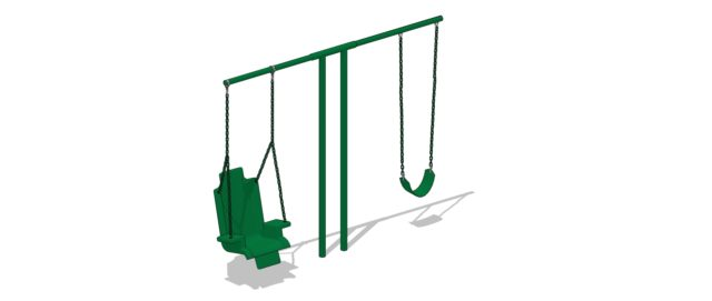 Small Children Swings | Nature of Early Play Playgrounds