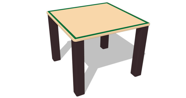 ADA Craft Table Playgrounds | Nature of Early Play Playground Equipment