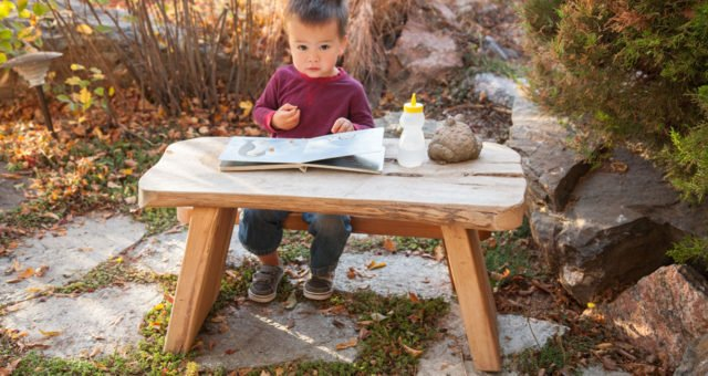 Natural Wood Table Playground Equipment | Nature of Early Play