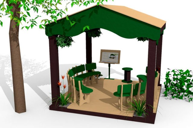 Outdoor Classroom   Story House   Nature of Early Play