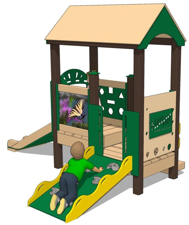Tiger Swallowtail Infant and Toddler Playset | Nature of Early Play | Playground Equipment