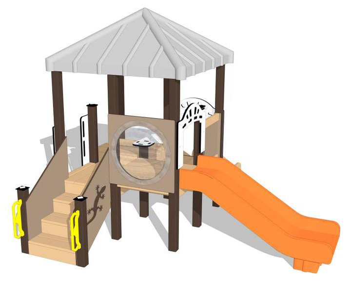 Nature of Early Play Playground Equipment_Creamsicle Color Palette