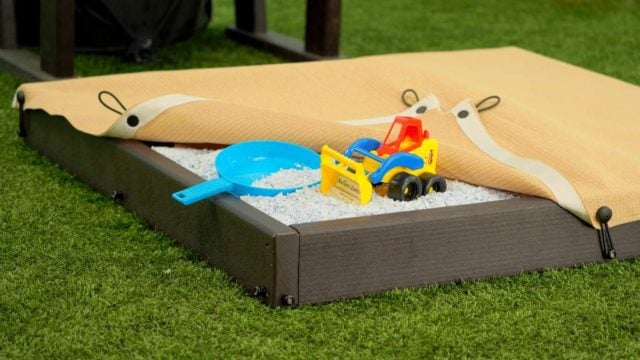 Recycled Plastic Lumber Sandbox | Nature of Early Play Playground Equipment