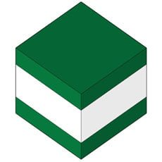 GREEN -WHITE - GREEN