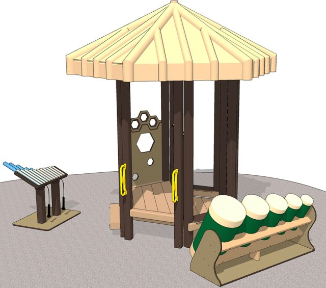 Melody Cabin Musical Play Set | Age-Appropriate Playground Equipment