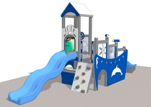 Beach Boat Manufactured playground playset | Nature of Early Play