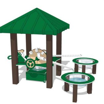 Watermill Preschool Play System with Roof | Nature of Early Play