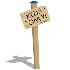 Kids Only Plank Sign